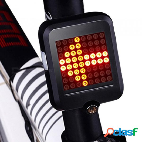 Luz de la bicicleta indicador de dirección automático luz trasera luz de carga usb mtb luz de advertencia de seguridad de bicicleta negro