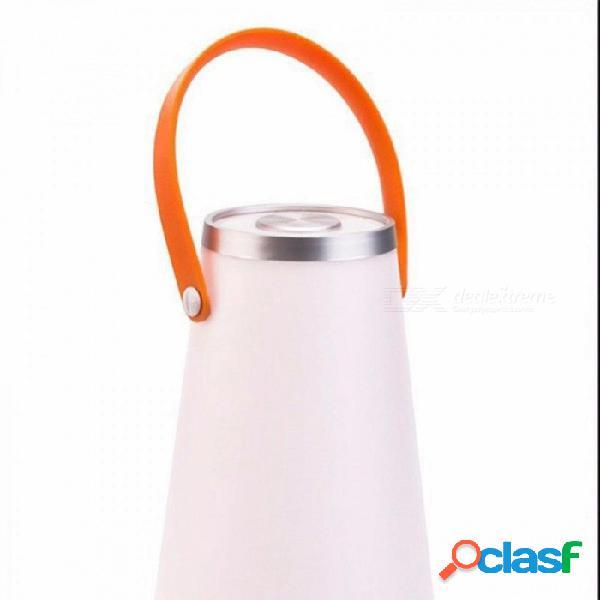 Toque la lámpara portátil de la tienda de la linterna que cuelga, luz recargable de la noche del usb para la sala de estar del dormitorio que acampa 5w / white