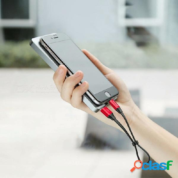 Baseus, cable de carga rápida de 23 cm y 2a, cable de datos usb a lightning con diseño de hebilla para iphone negro / 23 cm
