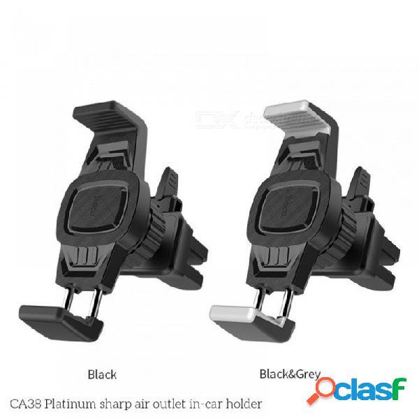 Ca38 soporte de soporte de teléfono de montaje de salida de ventilación de aire del coche universal ajustable para 3.5-6 pulgadas de teléfonos móviles negro