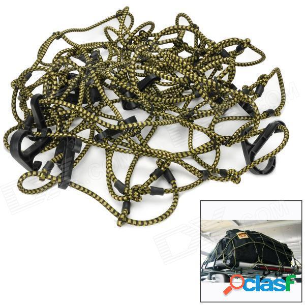 Cuerda elástica de goma elástica de carga / organizador de maletas que fija la red con ganchos para vehículos todo terreno.
