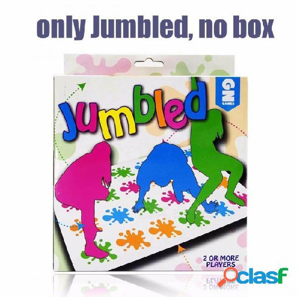 """Juego de mesa popular de venta caliente, clásico juego twister """"que te ata en los nudos"""" juego de mesa para la familia y los niños mezclados sin caja"""
