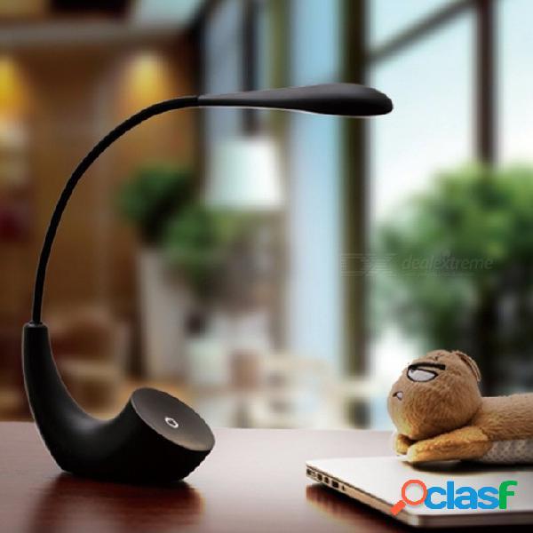 Lámpara de lectura recargable portátil del libro del usb, lámpara de escritorio simple de la tabla de la protección ocular led para el lado negro / 0-5w del dormitorio