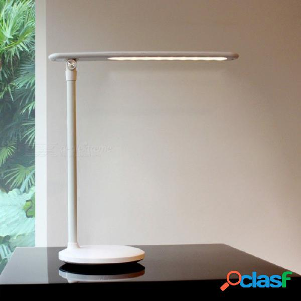 Lámpara de mesa de sobremesa con cambiador de 3 colores y control táctil táctil usb, lámpara de lectura de protección ocular para el estudiante negro / 0-5w