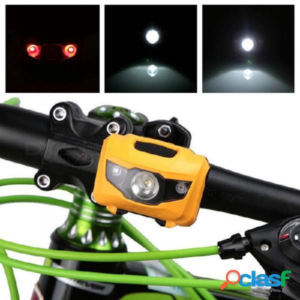 Luz de bicicleta led bicicleta bicicleta accesorios abs cabeza cola luz trasera mtb luz delantera trasera luz luces de advertencia linterna