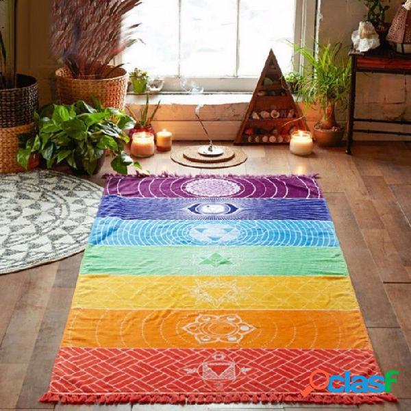 Nuevo verano colgar en la pared manta de yoga mandala manta, elefante tapiz rayas arco iris toalla de playa para viajar
