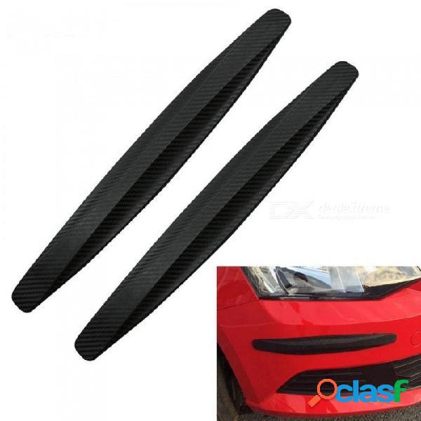 Protector de la esquina del coche barra de protección barra de choque barra de parachoques protector de ajuste guardias deflector de labios 2 unids accesorio protector blanco