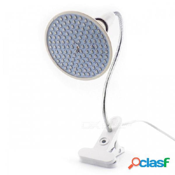200-led crecen la bombilla con el clip flexible del sostenedor de la lámpara 360 (enchufe de los eeuu)