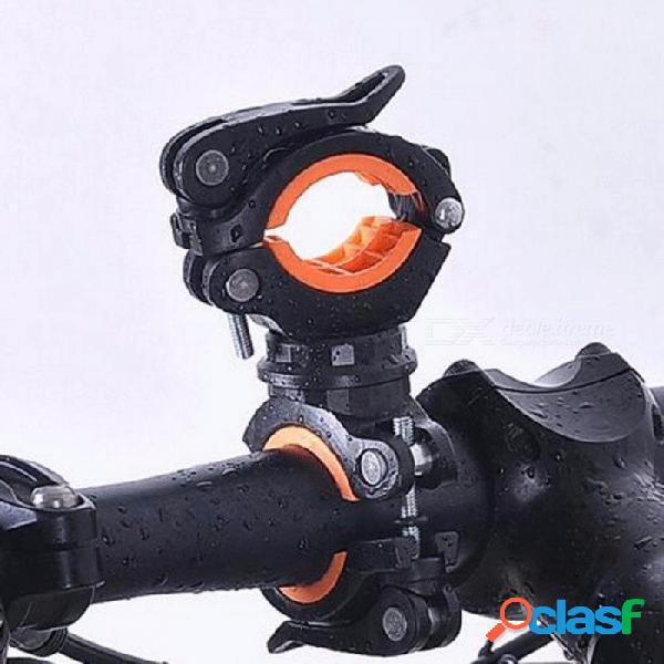 Bicicleta 360 grados de rotación ciclismo bicicleta linterna antorcha montaje cabeza led titular de la luz delantera clip accesorios para bicicletas