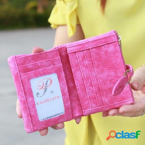 Monedero delgado monedero de las mujeres monedero billetera titular de la tarjeta bolso de las mujeres azul tarjeta de efectivo cambio delgado monedero estudiante chica monedero bolsa de dine