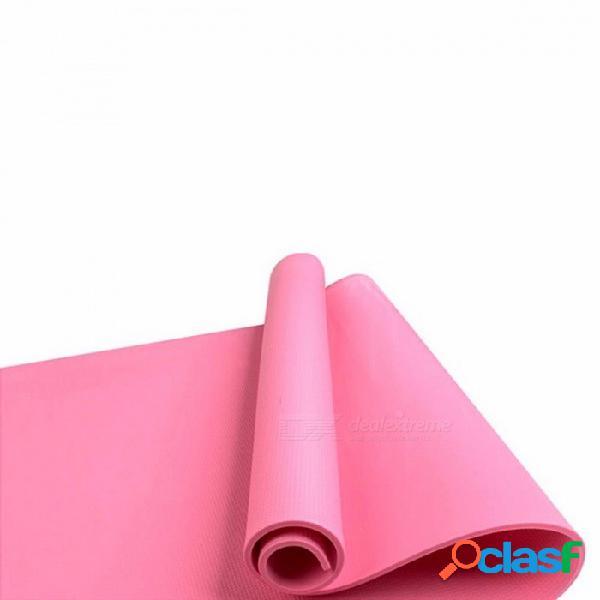 plegable plegable fitness yoga pilates mat para hombres mujeres, antideslizante 4mm engrosada EVA utilidad ejercicio pad pad morado