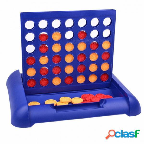 Portable clásico nuevo entretenimiento deportivo connect 4 juego, juego de mesa educativo juguete para niños niños azul