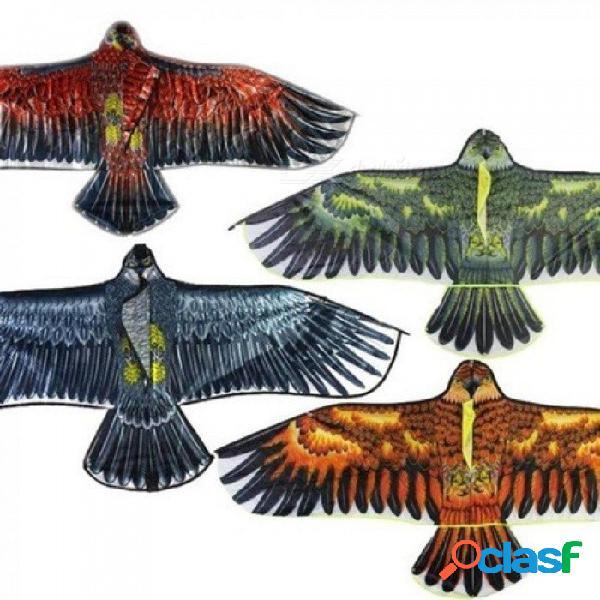 Divertidos deportes al aire libre cometa águila con asa y cometas de cuerda de 30 m control fácil buena fábrica original de vuelo para niños regalo