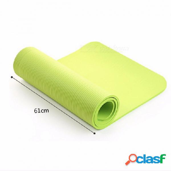 Estera de yoga multifuncional de alta calidad con correa de la honda, elástico antideslizante gimnasio gimnasio manta de la estera para deportes ejercicio ejército verde