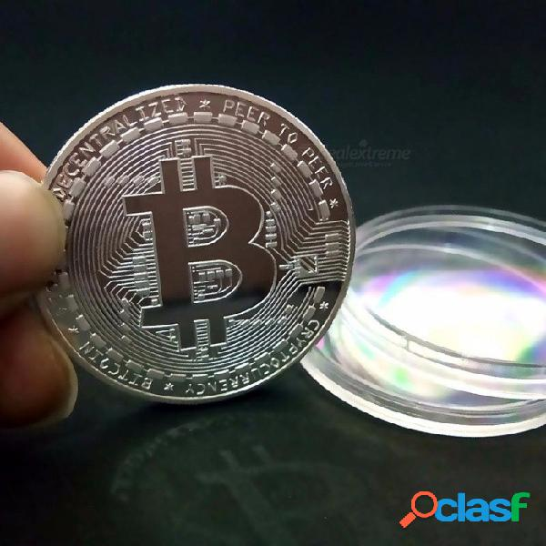 Moneda bitcoin cobrable regalo regalo bit coin btc coin arte colección física monedas conmemorativas de oro / plata