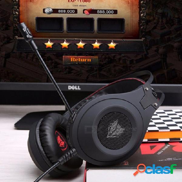 N2 3.5mm gaming headset pc gamer bass casque con micrófono para teléfono ps4 n2u usb auriculares de juego con led para computadora