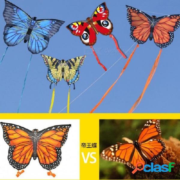 Niños recién llegados cometa cometa mariposa creativa cometa con 3 m cola fácil de volar juguetes deportivos al aire libre cometas animales juguete chidlren regalo
