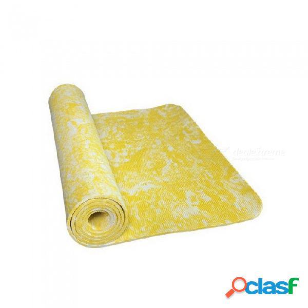 Nuevo diseño tpe 185 * 62 * 0.6 cm antideslizante yoga ejercicio estera de la aptitud, perder peso ecológico tpe estera de yoga para la construcción del cuerpo gris claro