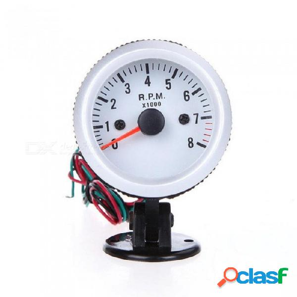 "Tacómetro tacómetro con taza de soporte para auto auto 2 ""52mm 0 ~ 8000rpm luz led azul rpm color: plateado"