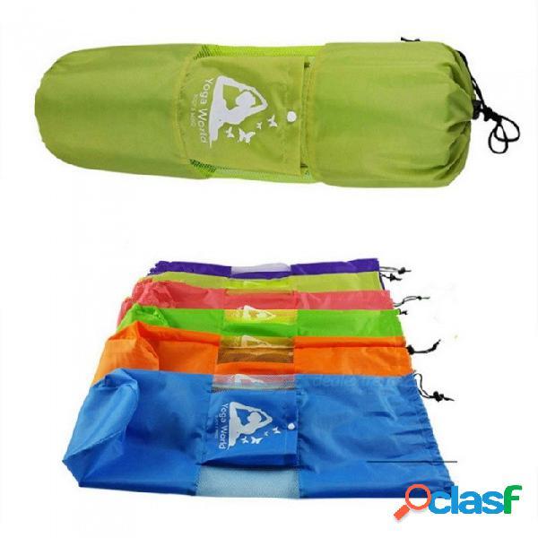 Venta caliente yoga gimnasio estera mochila bolsa, bolsa de estera de yoga pilates de yoga impermeable bolsa para 6-10mm (estera de yoga no incluida)