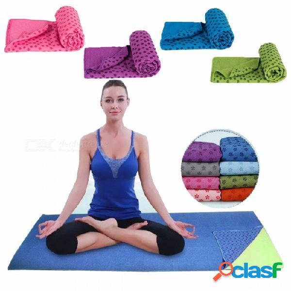 183x63cm Suave Viaje Deporte Fitness Ejercicio Yoga Pilates Estera Cubierta De Toalla Toalla, Antideslizante Toalla Deportiva