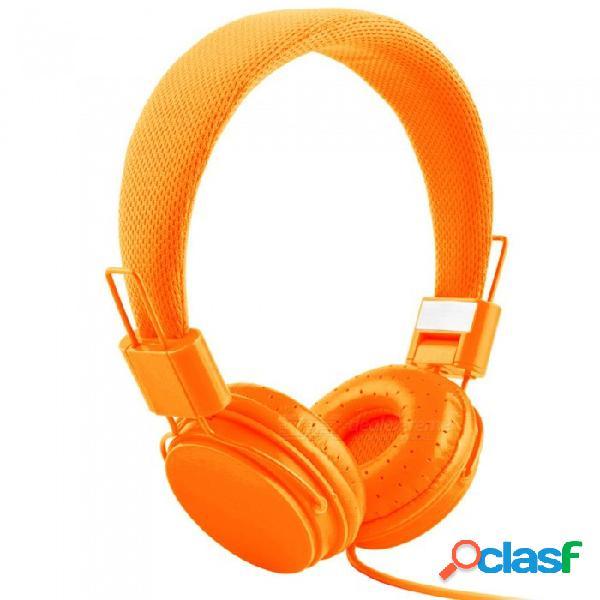 Audífonos ajustables ojade para audífonos con banda para la cabeza con almohadillas extremadamente suaves, audífonos estéreo con cancelación de ruido