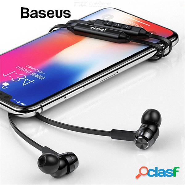Banda para el cuello auriculares bluetooth inalámbricos auriculares estéreo con micrófono para xiaomi iphone