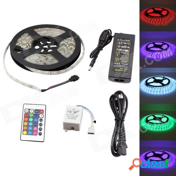 Gc 72w 3000lm 300-smd 5050 tira de luces led rgb con control remoto de 24 teclas - blanco (5m / dc 12v)