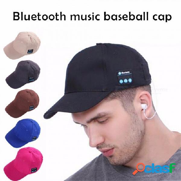 Hombres mujeres casquillo de los auriculares deporte inalámbrico bluetooth music hat casquillo auriculares del altavoz sombreros de béisbol auriculares rojo