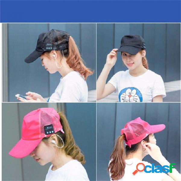 Hombres mujeres casquillo del auricular inalámbrico deporte bluetooth música sombrero casquillo altavoz auriculares de béisbol sombreros auricular