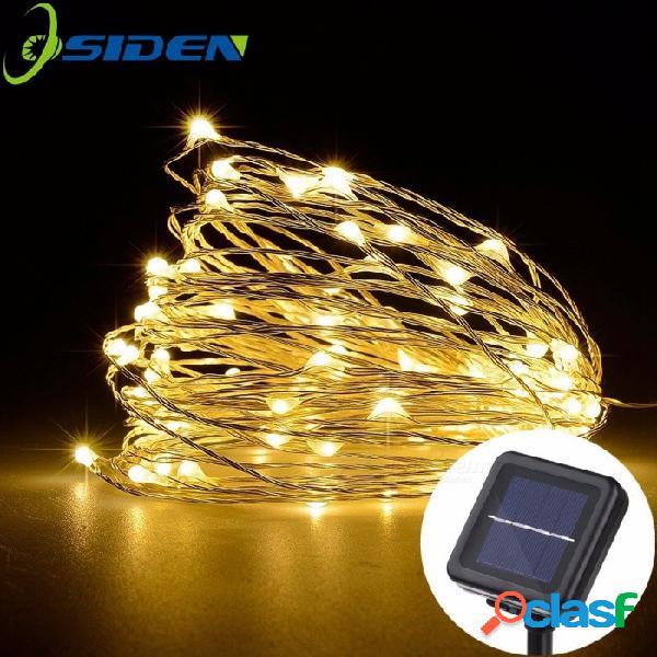 Lámpara de cadena solar led luces de navidad de hadas 10m 100 led alambre de cobre navidad banquete de boda decoración lámpara guirnalda azul / 0-5 w