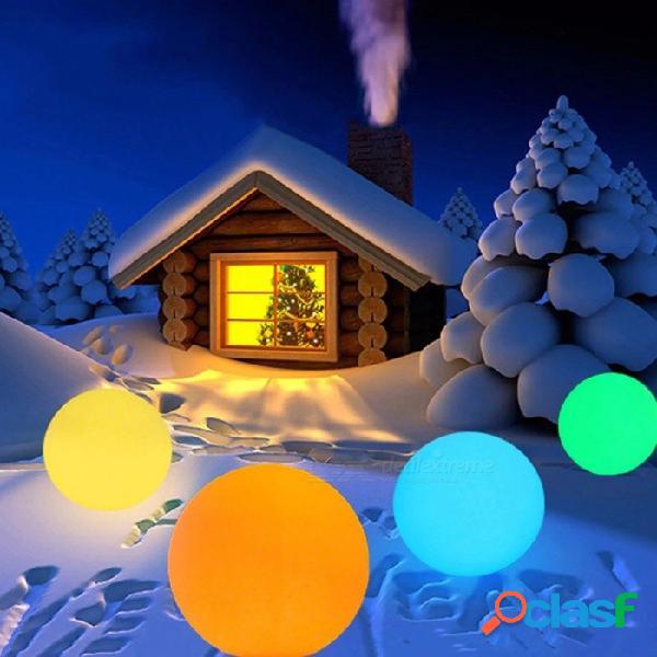 Lámpara de pie de jardín de jardín recargable rgb led iluminada luz de bola impermeable con control remoto 12 * 12 cm rgb / 0-5w