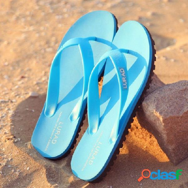 Lurad 2018 zapatillas de playa de verano zapatos casuales chanclas sandalias de los hombres zapatos para hombres al aire libre zapatos cielo azul / 39
