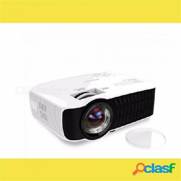 Proyector h35 proyector portátil led de cine en casa 1000 lúmenes 20-300 pulgadas proyector bluetooth blanco