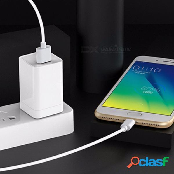 Vooc cargador de flash de carga rápida micro usb cargador de pared para oppo r15 r11s r9s plus r9 blanco / universal