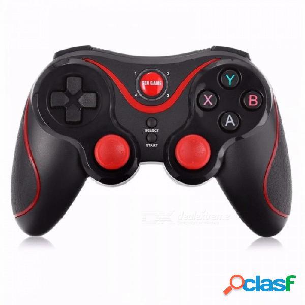Gen game s5 controlador de juegos inalámbrico bluetooth gamepad bluetooth 3.0 joystick para teléfono inteligente android tablet pc con retención negro