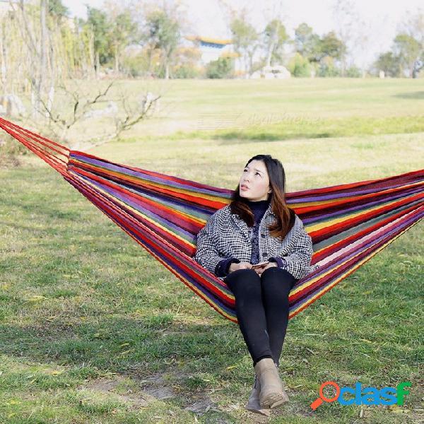 Hamaca para dos personas hamaca para caminatas al aire libre que acampa ocio cama colgante 240 * 150 cm azul cielo