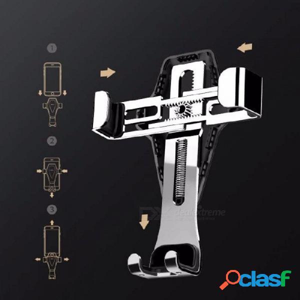 Soporte universal universal para teléfono rock, soporte de soporte de soporte de teléfono de metal por gravedad, ventilación, montaje de coche ii para la mayoría de teléfonos inteligentes