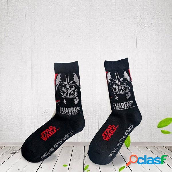 Calcetines de fútbol star wars calcetines calcetines de fútbol hombre starwars calcetines de algodón negro grueso calcetines cómodos y negros