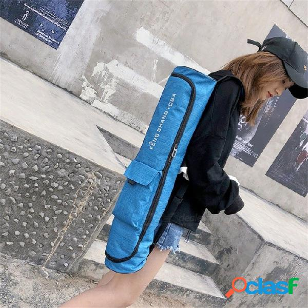 Estera de yoga bolsa de deporte con bolsillos laterales portador impermeable mochila llevar correa bolsas deportivas gris