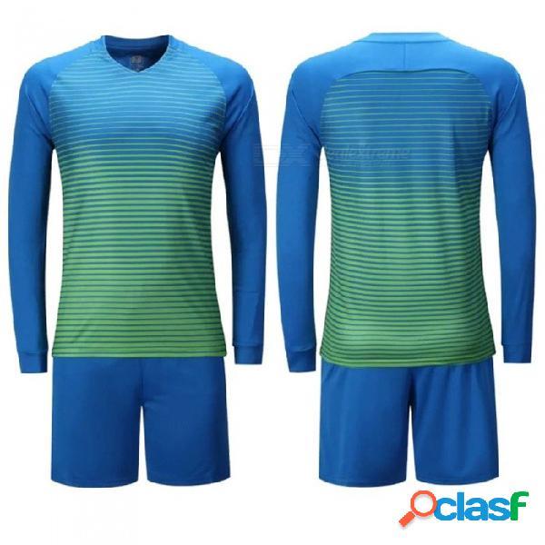 Hombres, portero de fútbol, camisetas de la universidad, chándal de fútbol, uniformes, ropa de entrenamiento, pantalones de entrenamiento, set sky blue / m