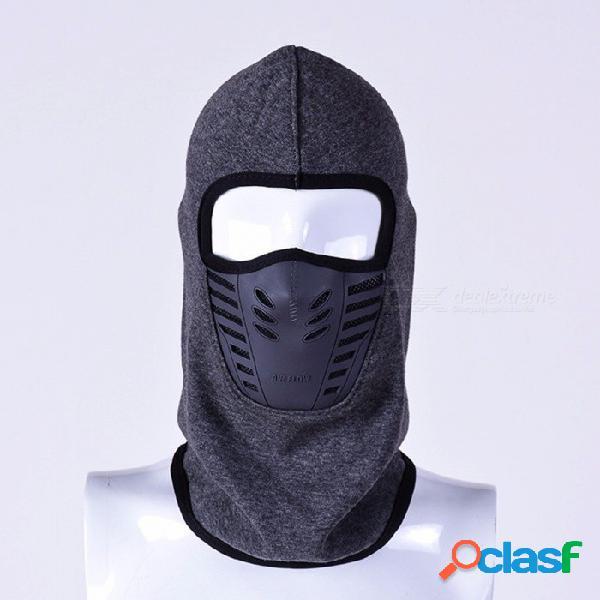 Invierno cálido máscara facial completa sombrero cubierta a prueba de viento térmico polar pasamontañas bufanda capucha hombres mujeres deportes cuello máscara de esquí negro / talla única