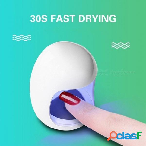 Mini lámpara portátil de fototerapia para uñas con cable usb, lámpara led de secado rápido uv, pegamento para uñas, manicura, máquina pedicue, blanco