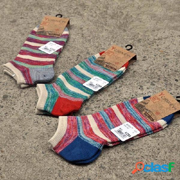Nuevos hombres calcetines cortos nación viento casual calcetines hombres moda boca baja absorber sudor barco calcetines azul