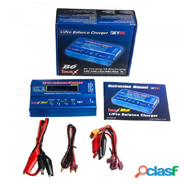 Cargador de balance de batería original skyrc imax b6 digital lipo nimh rc con adaptador ac power 12v 5a + fuente de alimentación de enchufe de la ue