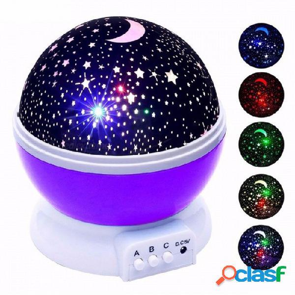 Estrellas cielo estrellado led luz nocturna proyector luminaria luna novedad mesa noche lámpara batería usb luz nocturna para niños