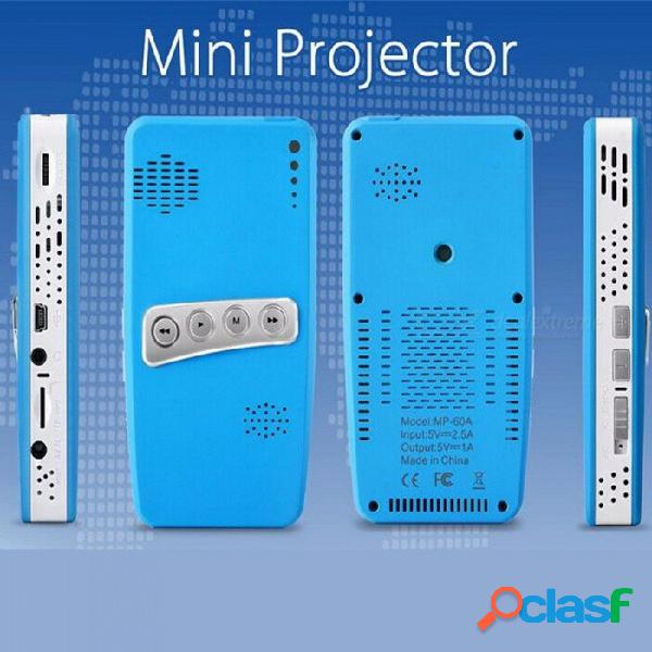 Proyector mp-60a mini proyector portátil led de cine en el hogar proyectores bluetooth digital negro