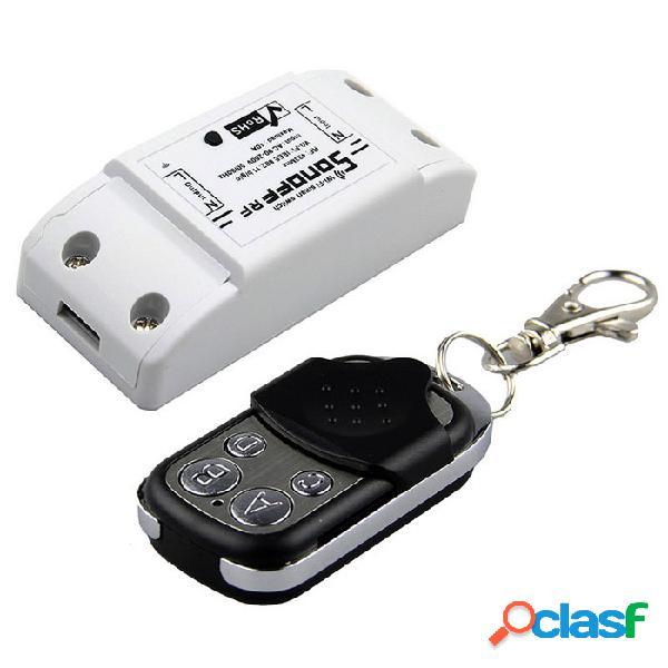 Sonoff rf 433 mhz wifi interruptor inteligente inalámbrico wi-fi controlado con control remoto funciona con alexa nest
