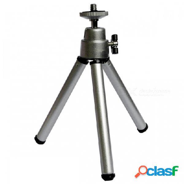 Soporte telescópico de aluminio del soporte de trípode de la aleación de aluminio para la cámara, teléfono móvil - plata