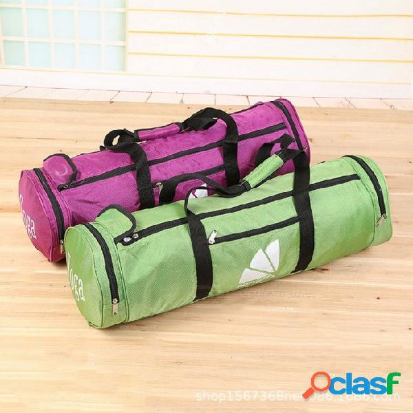 Yoga gimnasio pilates estera bolsa transportadores mochila bolsa hombro mensajero para mujeres fitness verde